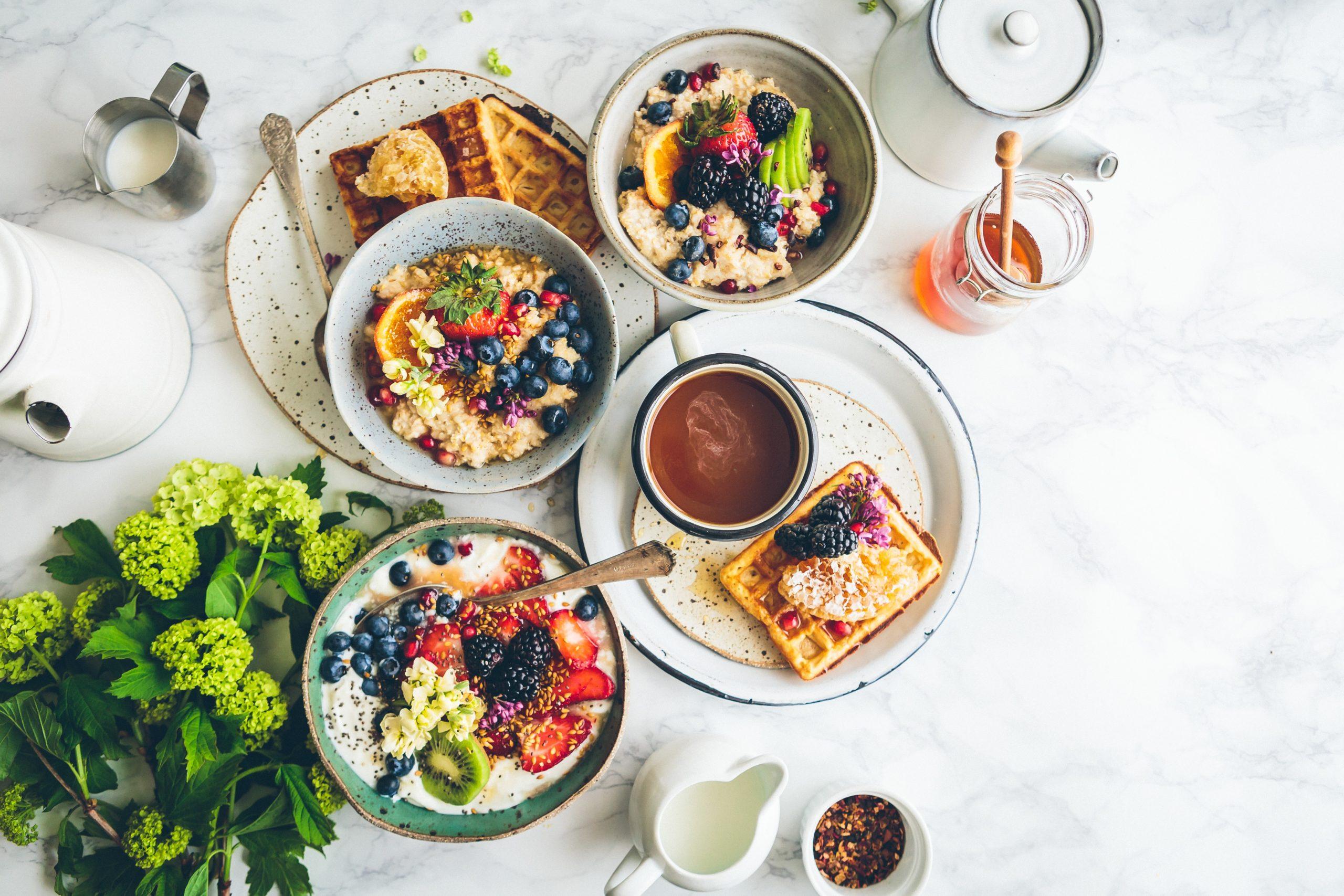 フレッシュな朝食の画像